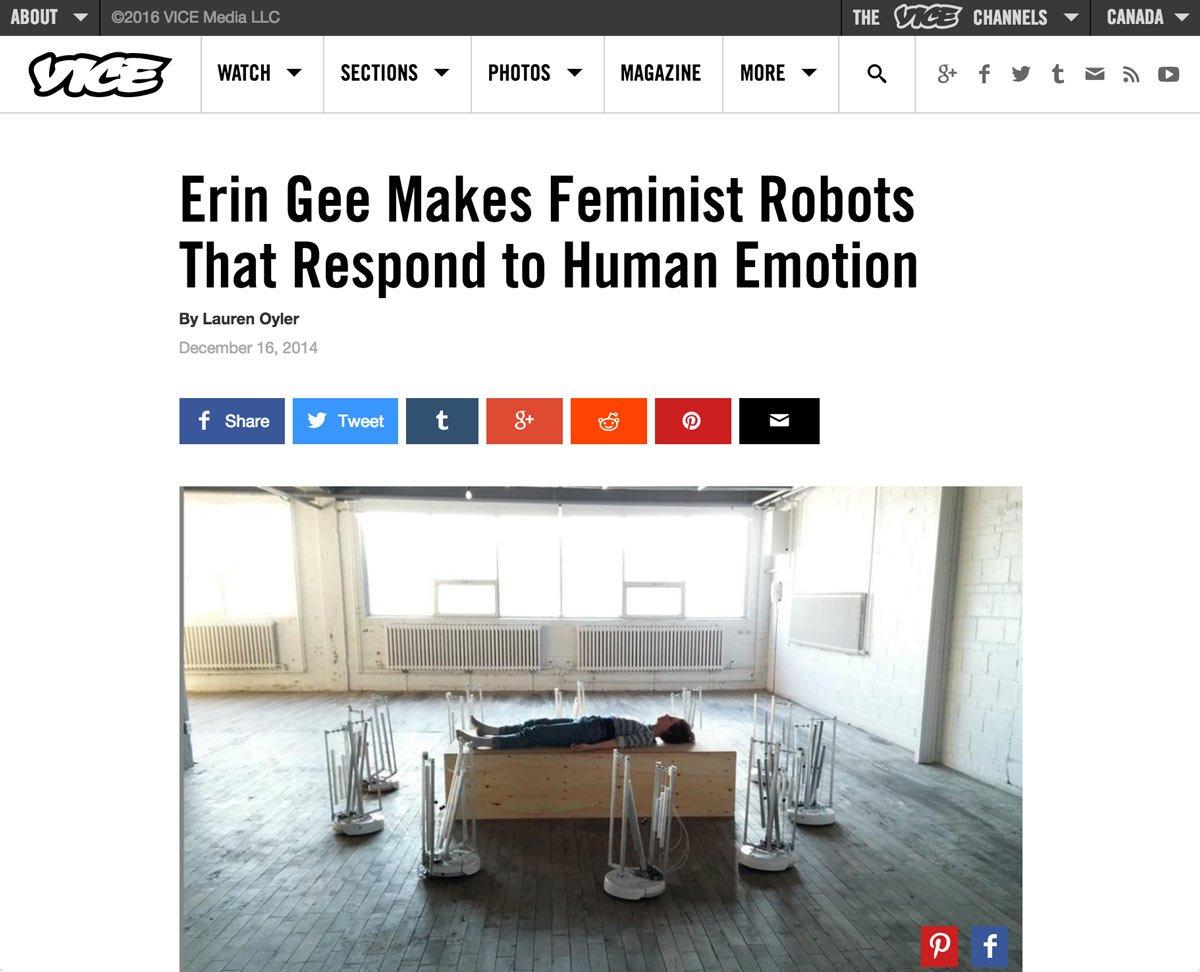 Erin Gee - Vice Magazine Interview 2015