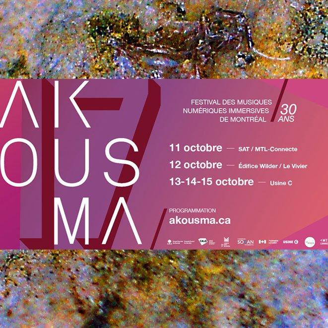 Poster for Akousma 2021